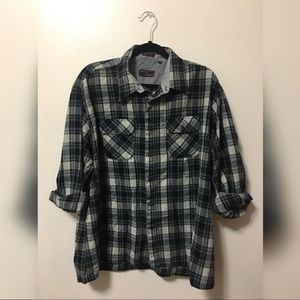 Vintage Oversize Flannel Button Up Shirt